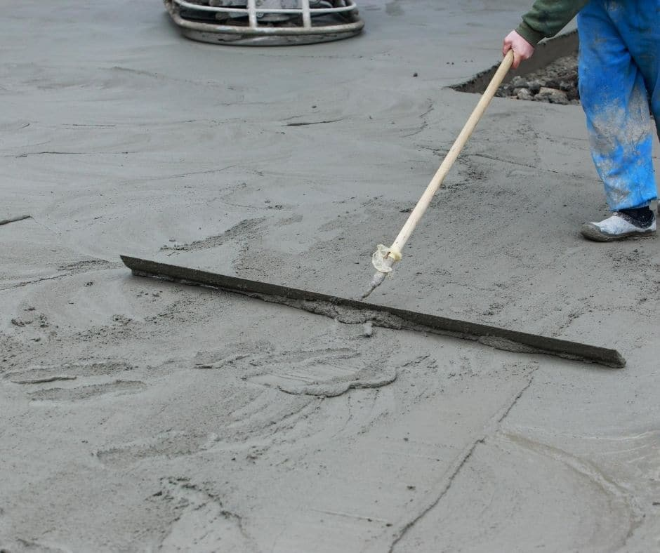 Concrete Driveway being smoothed