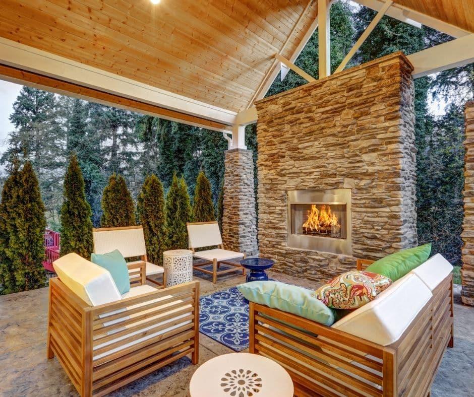 Jacksonville Custom Stone Fireplace